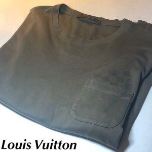 Louis Vuitton T-Shirt Damier Pocket Shirt XL Green